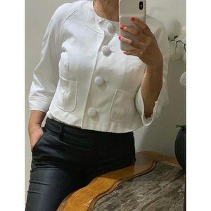 Anne Klein White Cropped Jacket size 14p